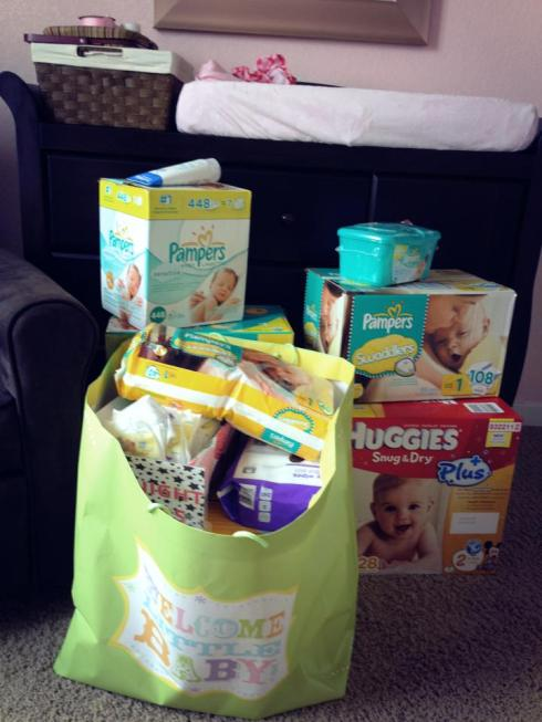 Loot from Baby E's shower